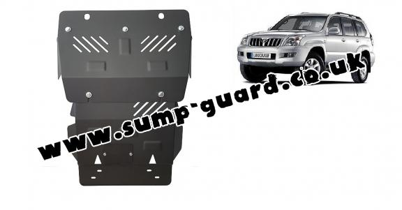Steel sump guard for Toyota Land Cruiser J120