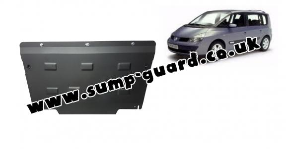 Steel sump guard for Renault Espace 4