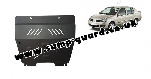 Steel sump guard for Renault Clio 2