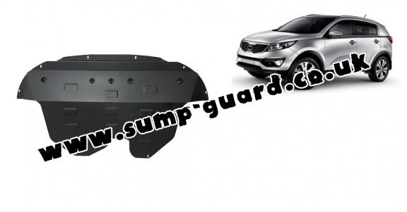 Steel sump guard for Kia Sportage
