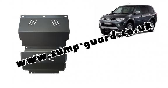 Steel sump guard for the protection of the engine and the radiator for Mitsubishi Shogun Sport 2