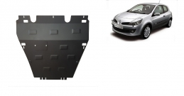 Steel sump guard for the protection of the engine and the gearbox for Renault Clio 3