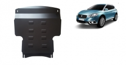 Steel sump guard for the protection of the engine and the gearbox for Suzuki S-Cross