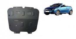 Steel sump guard for Vauxhall Tigra