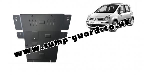 Steel sump guard for Renault Modus