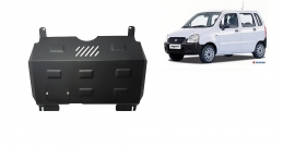 Steel sump guard for the protection of the engine and the gearbox for Suzuki Wagon R+