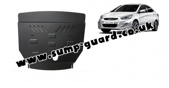 Steel sump guard for Hyundai Solaris