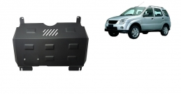 Steel sump guard for Subaru Justy