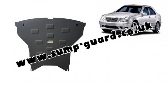 Steel sump guard for Mercedes C-classe W203