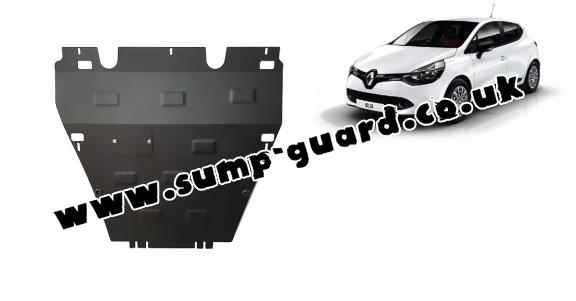 Steel sump guard for the protection of the engine and the gearbox for Renault Clio 4
