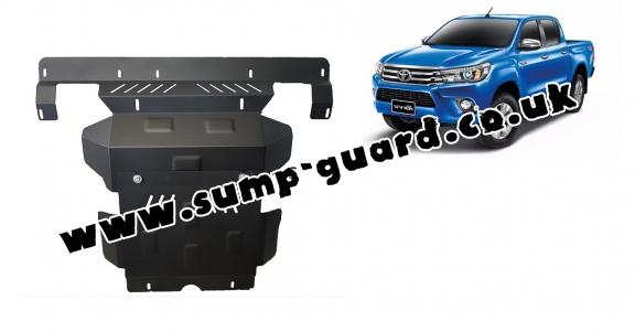 Steel sump guard for the protection of the engine and the radiator for Toyota Hilux Revo