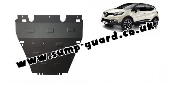 Steel sump guard for Renault Captur