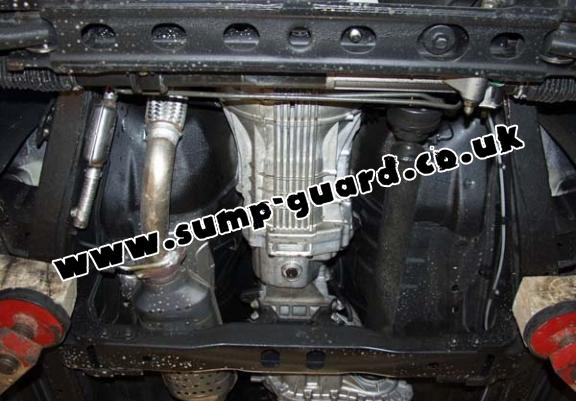 Steel sump guard for the protection of the engine and the radiator for Kia Sorento