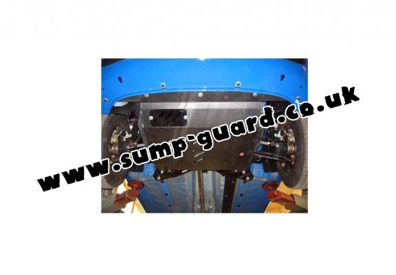 Steel sump guard for Fiat Panda