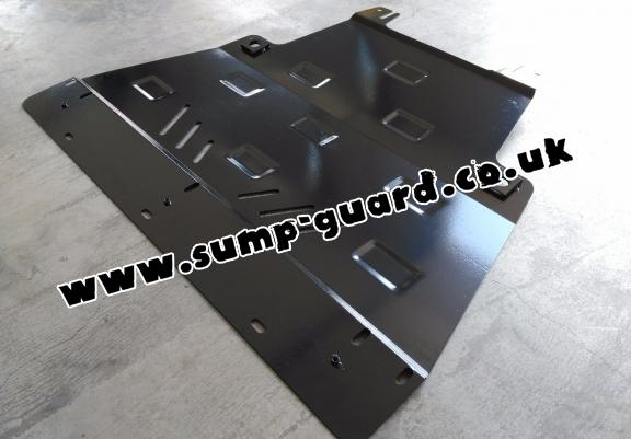 Steel sump guard for Renault Trafic