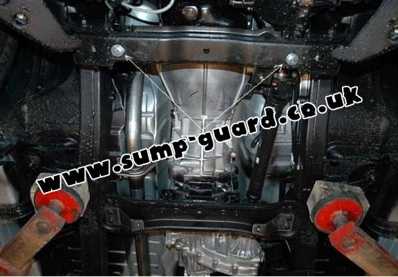Steel gearbox and differential guard for  Mitsubishi Shogun Sport 2