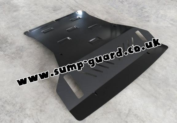 Steel sump guard for the protection of the engine and the radiator for Mitsubishi Shogun 4 (V80, V90)