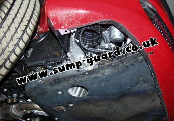 Steel sump guard for the protection of the engine and the gearbox for Alfa Romeo 147