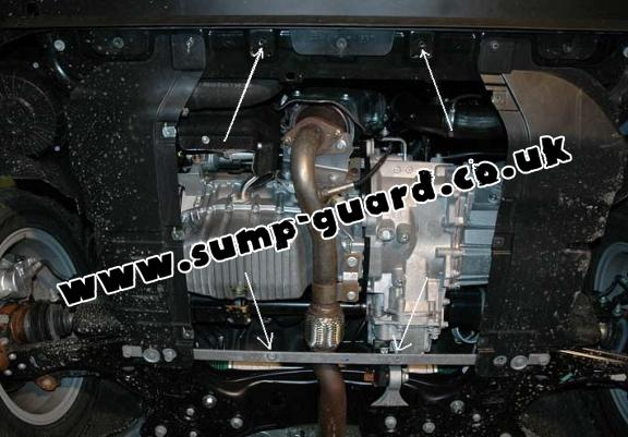 Steel sump guard for the protection of the engine and the gearbox for Fiat Bravo