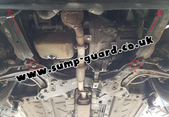 Steel sump guard for Fiat 500 S