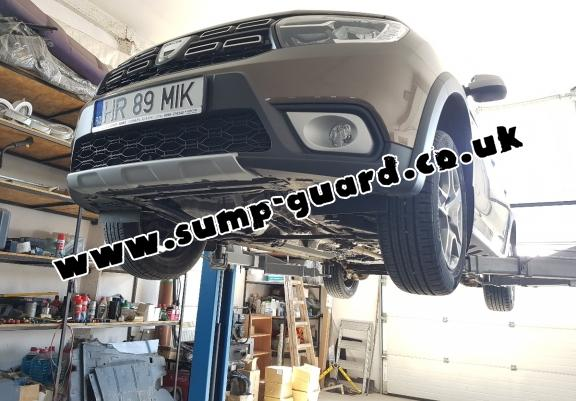 Steel sump guard for Dacia Lodgy