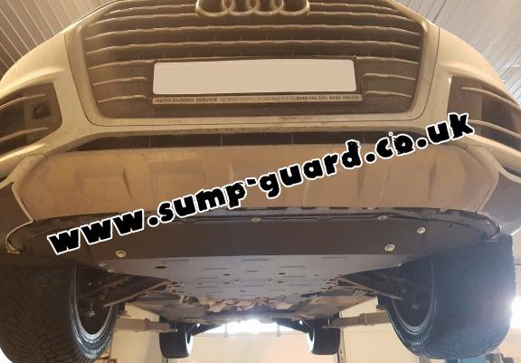 Steel sump guard for Porsche Cayenne
